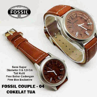 jam tangan keren couple murah Fossil Couple 04 leather