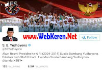@SBYudhoyono, Akun twitter Presiden Republik Indonesia dengan follower paling banyak