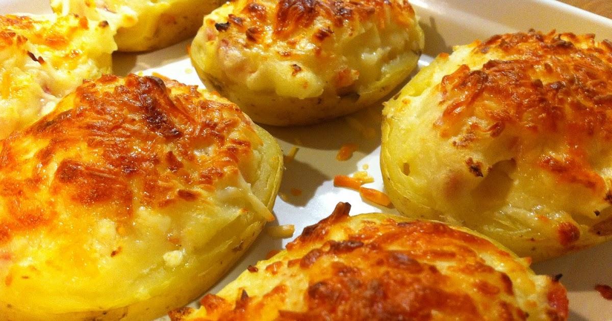 Marisa en la cocina patatas gratinadas rellenas de bacon - Cuanto tarda en cocer una patata ...