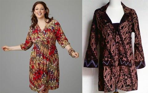 Long dress batik untuk orang gemuk