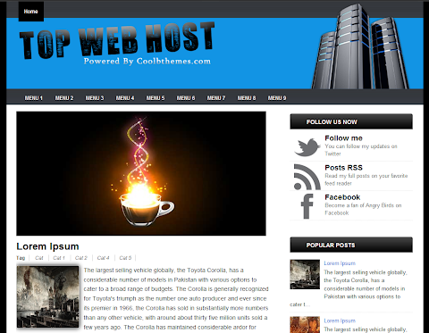 Top WebHost Blogger Theme