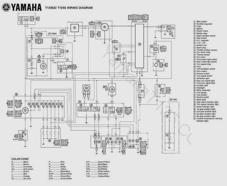 skema kelistrikan motor  mx135cc