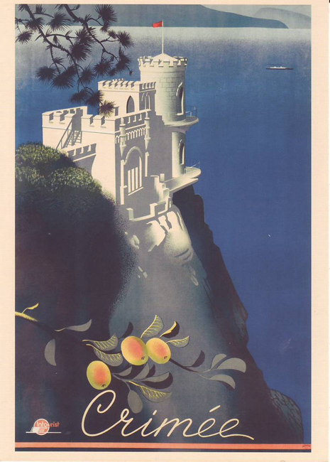 Crimea, Ucrania 1935 Cartel Soviético de Turismo Vintage