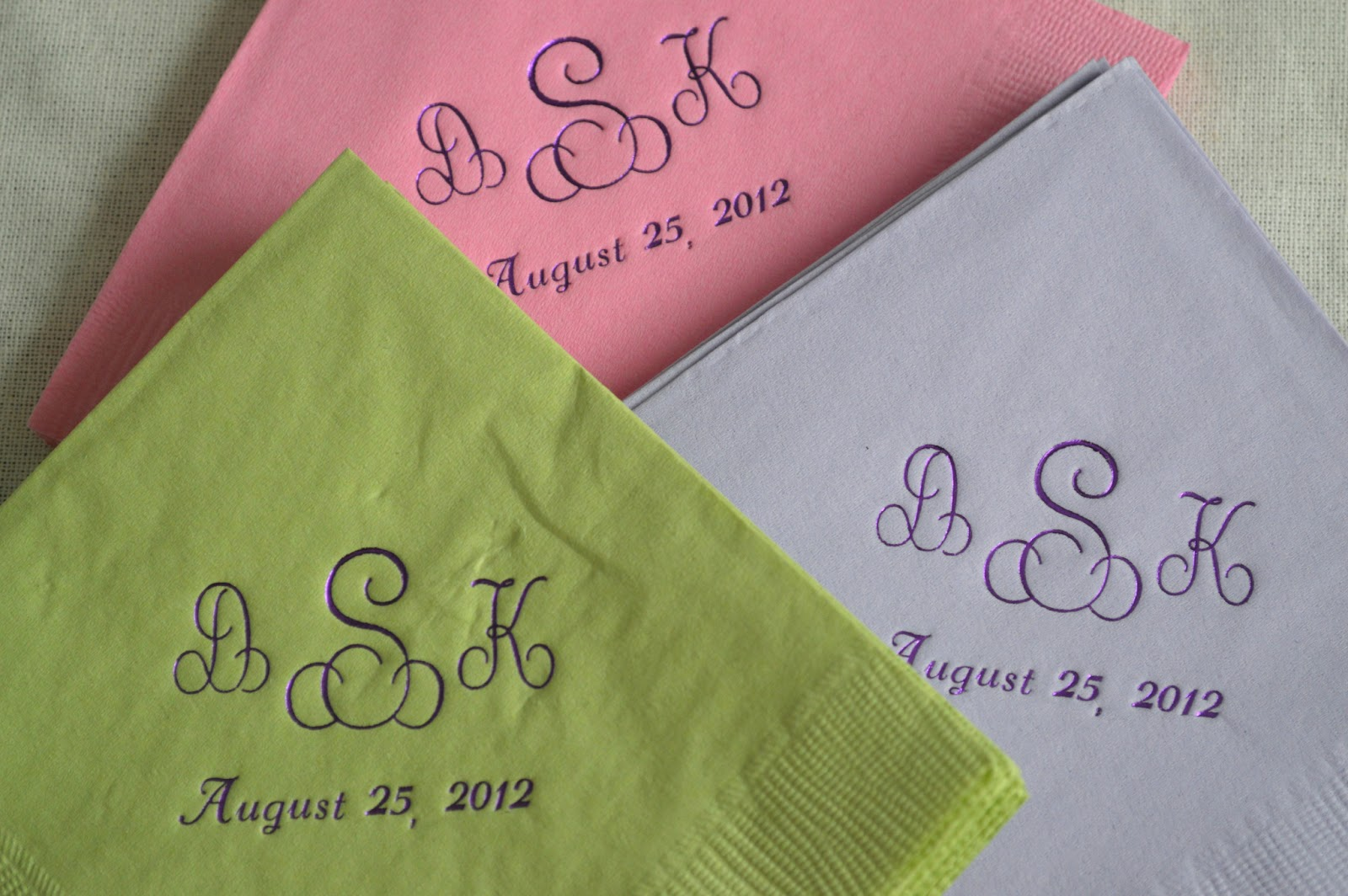 Inspired I Dos Monogrammed Napkins Personalize Your Weddding