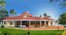 Evens Construction Pvt 3d Kerala House Design