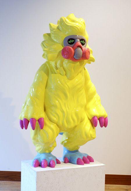 Takahiro Komuro esculturas macabras bizarras coloridas fofas monstros Rato elétrico