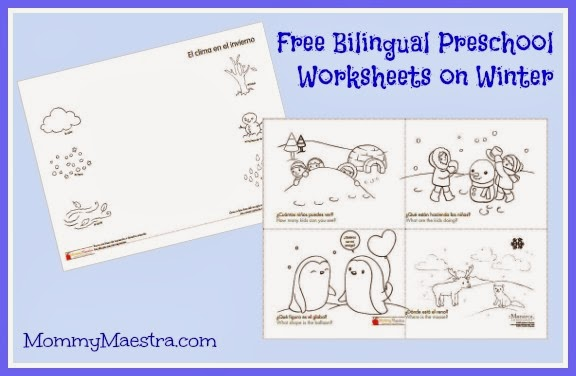 Mommy Maestra: Free Spanish Preschool Printables About Winter