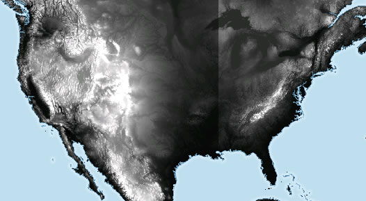 UXBlog IDV Solutions User Experience Fun With Elevation Models - Grayscale height map us