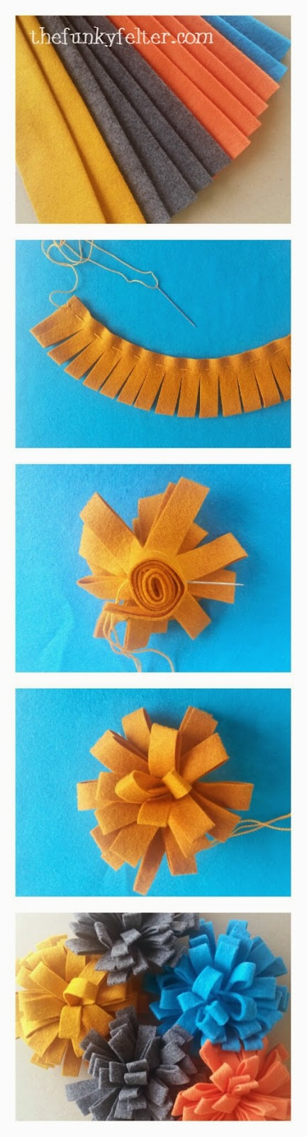 instructographic diy felt flower craft tutorial