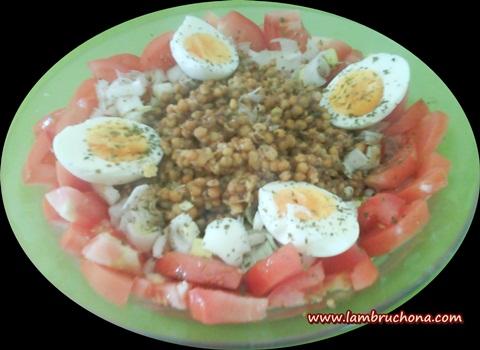 Lambruchona receta ensalada de judias blancas y lentejas - Ensalada fria de judias blancas ...
