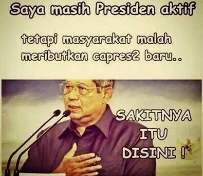 foto gambar lucu SBY sakitnya tuh disini