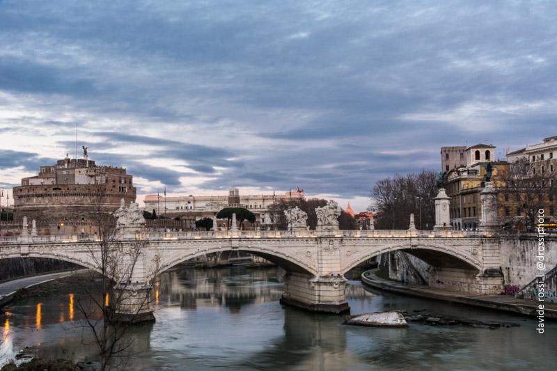 Riflessi di Roma - Castel Sant'Angelo - lunga esposizione