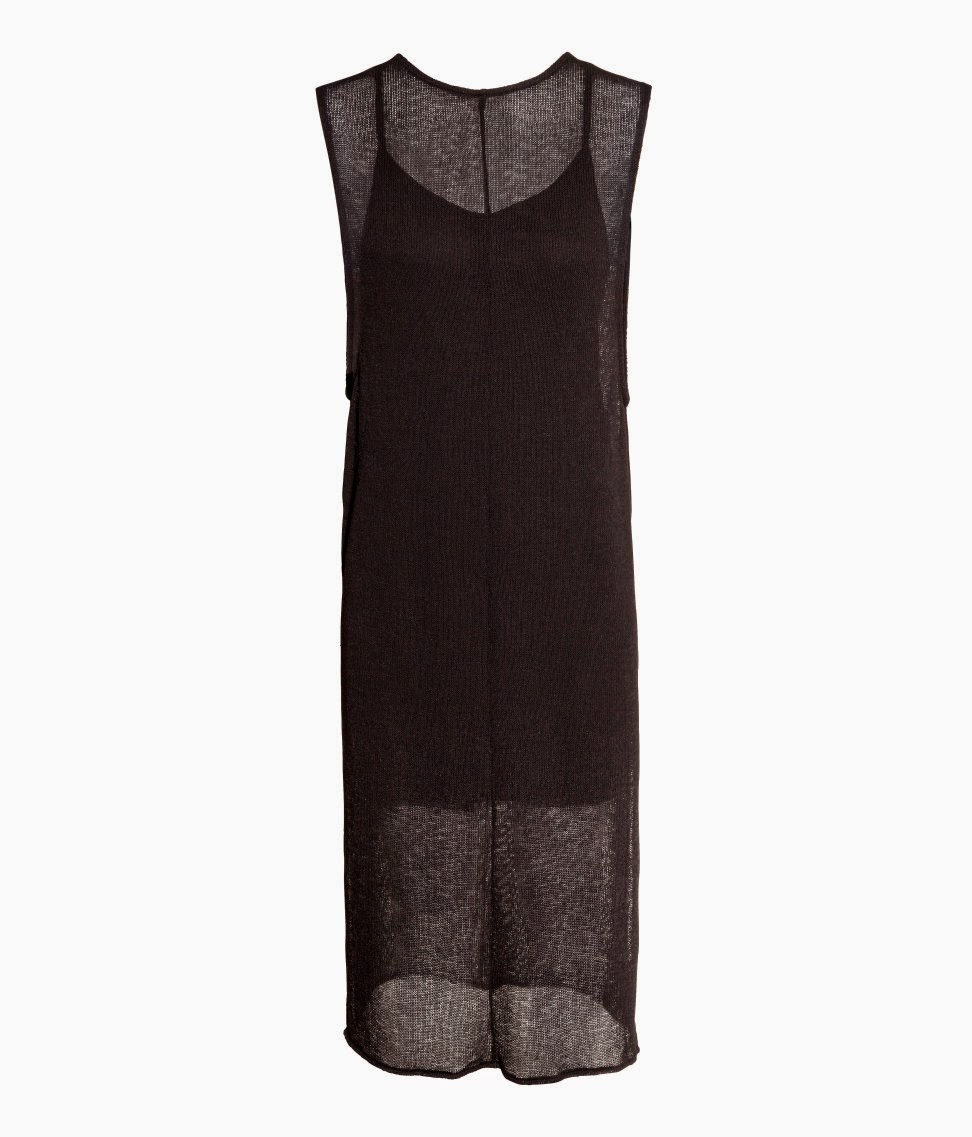 hm black mesh dress