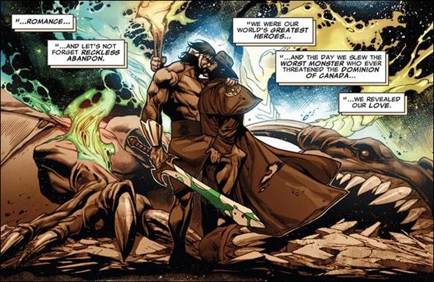 O beijo entre Wolverine e Hercules em um universo paralelo