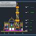مشروع مسجد صغير بطابقين اوتوكاد dwg