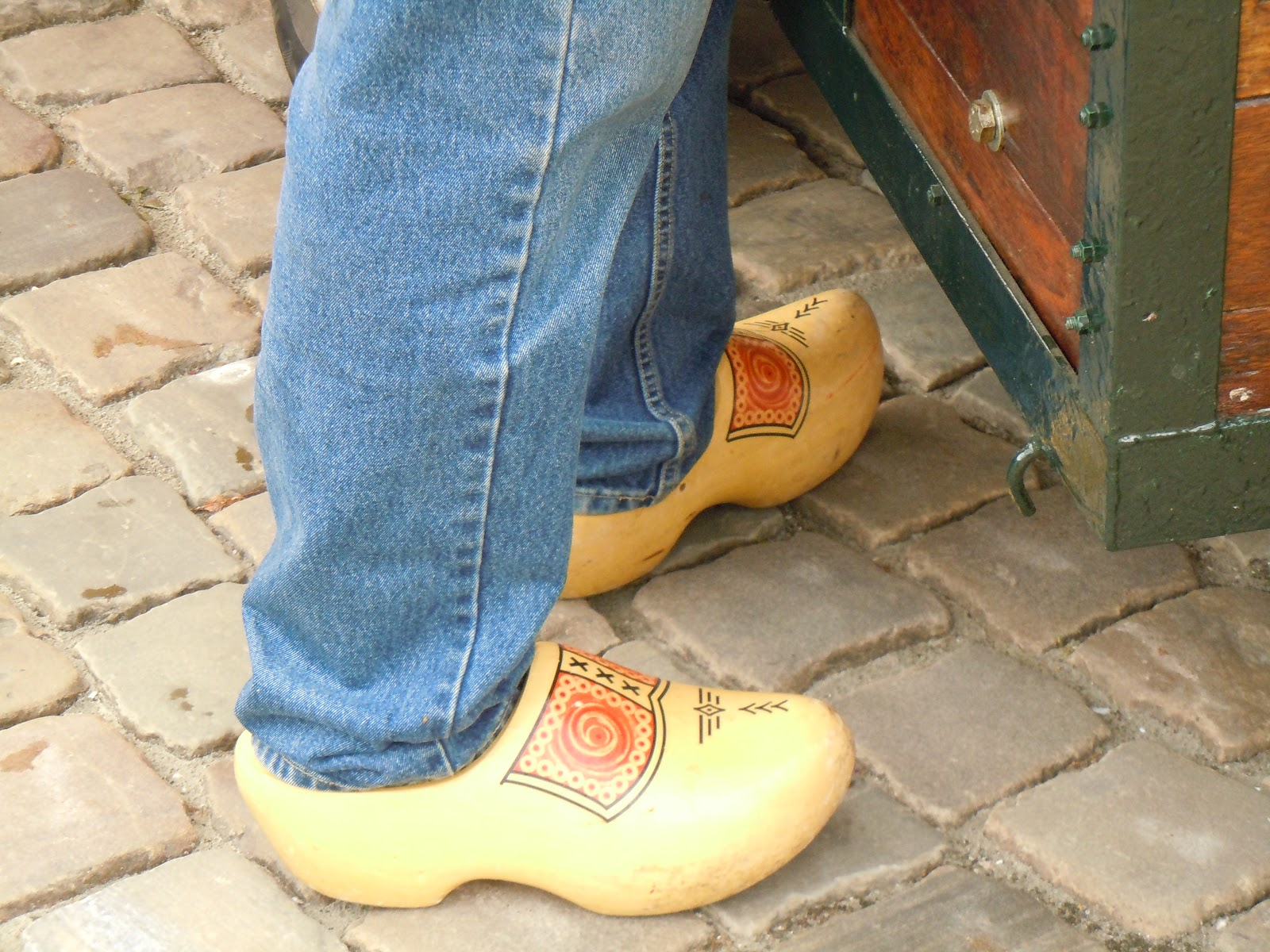 to europe with kids the old wooden shoe carver in gouda