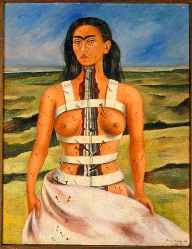 10 Out Of The Most Beautiful Paintings Of All Time - The Broken Column by Frida Kahlo (1944)