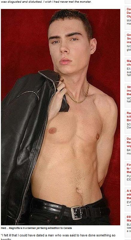 Magnotta foi preso há duas semanas na Alemanha (Foto: Reprodução)