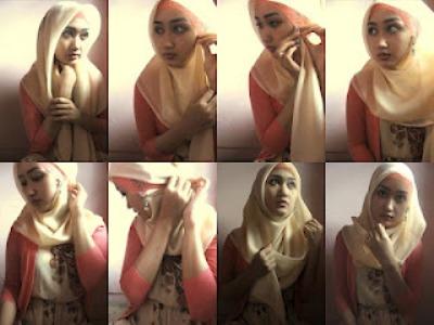 Gambar Cara Memakai Hijab Modern