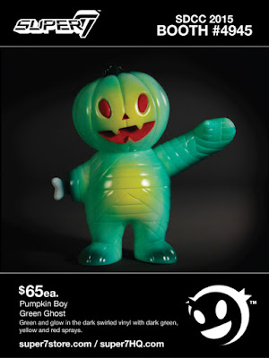 "San Diego Comic-Con 2015 Exclusive ""Green Ghost"" Pumpkin Boy by Super7"
