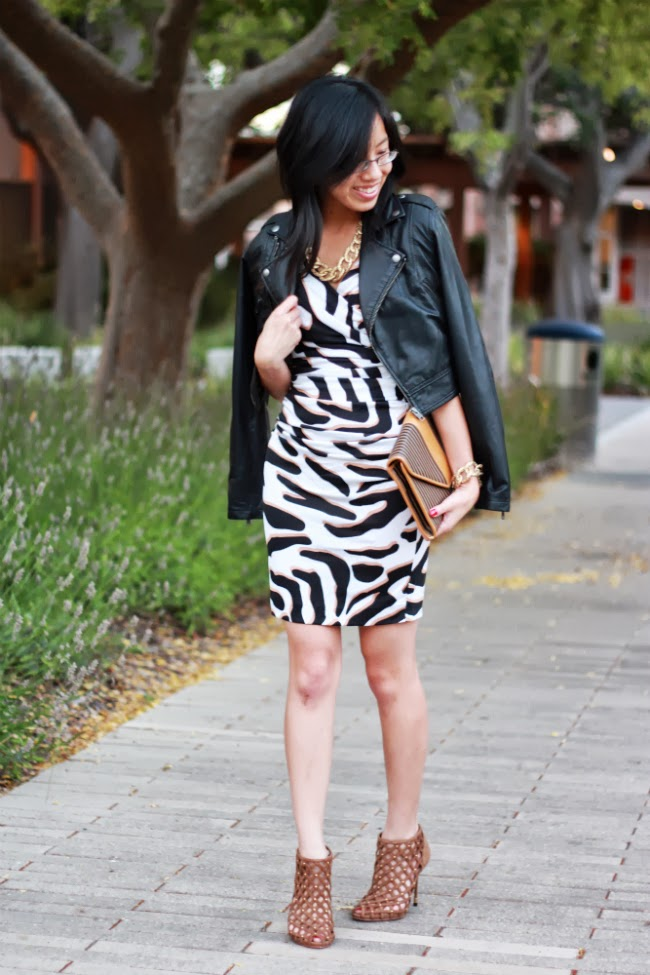 dvf bentley dress leather jacket animal print fall trends
