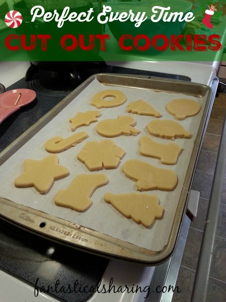 Not just for Christmas, but any time you need Perfect Cut Out Cookies to decorate - this recipe will be your go-to. No more crispy, amorphous, bland cookies! #sugarcookies #holiday #tradition #recipe #cookies