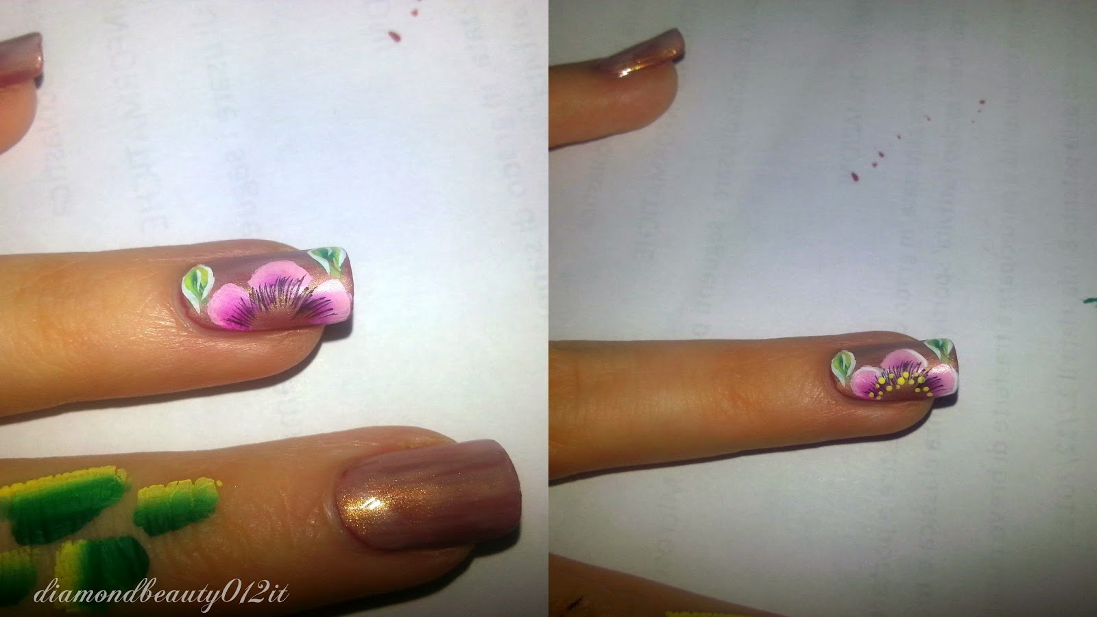 fiore nail art step by step