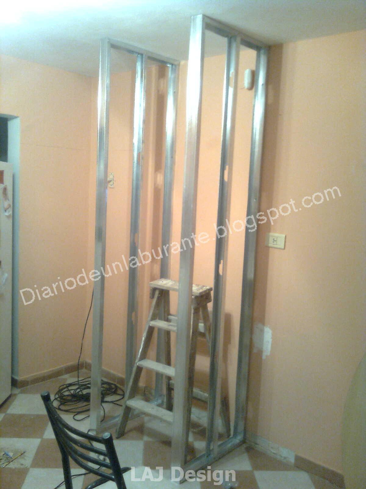 Diario de un laburante mueble durlock en la cocina parte 1 for Montar pared de pladur