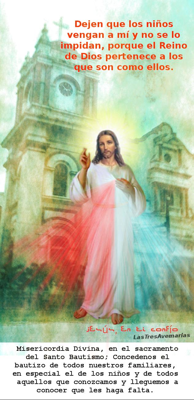 imagen de la divina misericordia buscando bautisos de niños