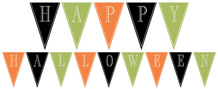 Halloween Bunting new to the website this week are ghost owls bat owls bunting and matching digital papers Printable Happy Halloween Bunting