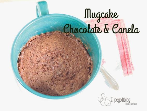 Receta mugcake de chocolate y canela (sin huevo)