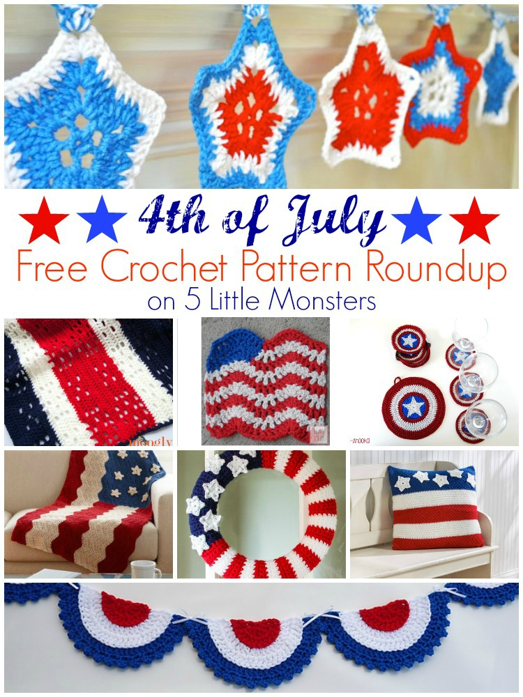 5 Little Monsters 4th Of July Free Crochet Pattern Roundup