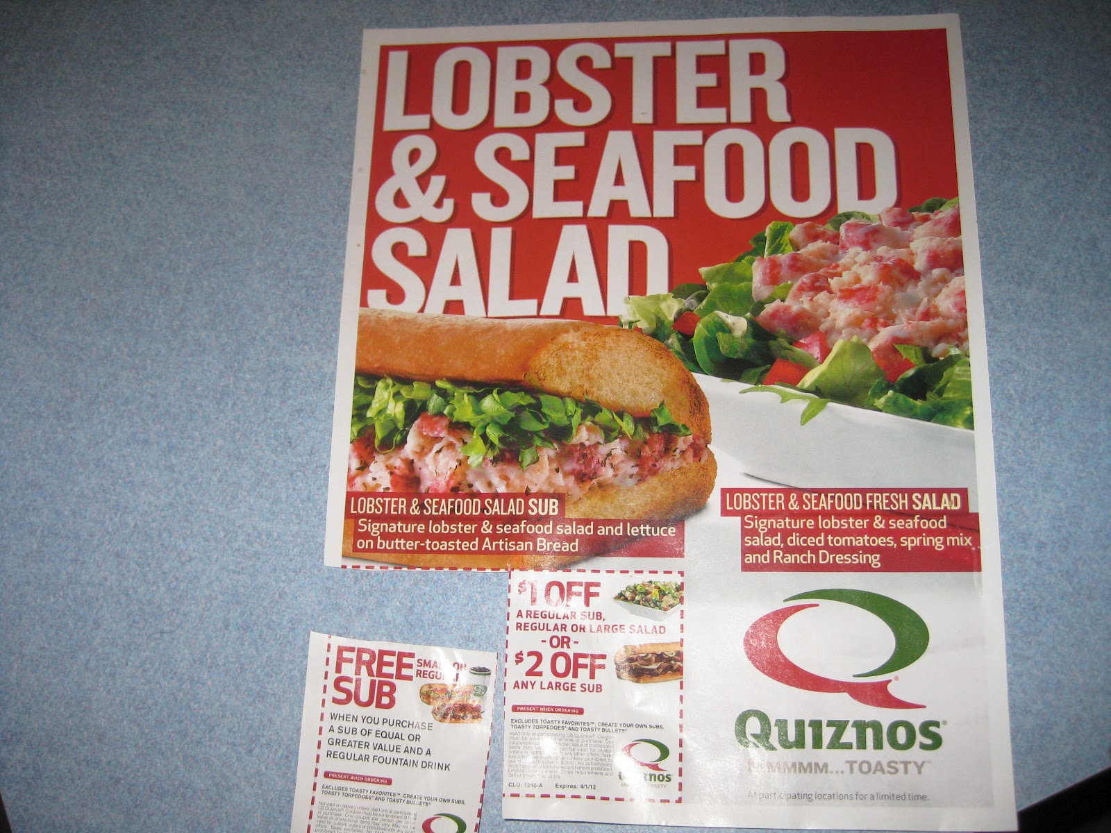 The Quizno's Lobster & Seafood Salad Club Sandwich Is Not Apletely New  Menu Item It May, However, Be A Good Thing That I Was Not Yet A Reviewer  For