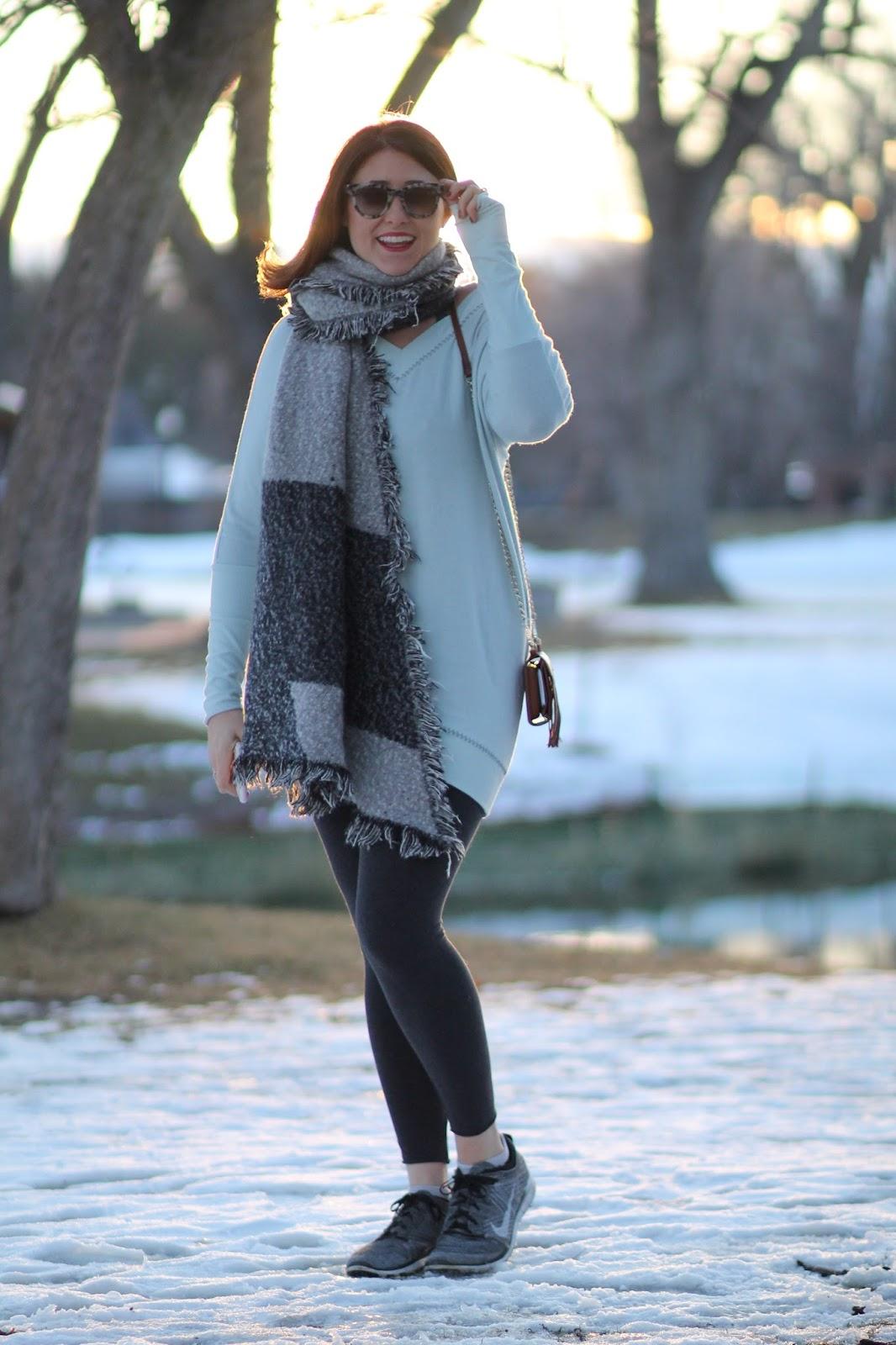 matin, tunic, flyknit, free, nike, aritzia, tna, blanket, scarf