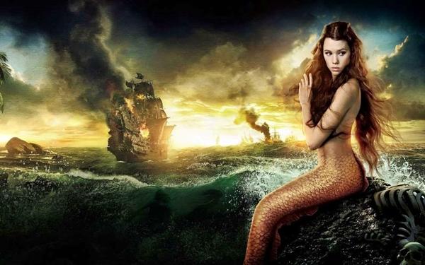 Sirena en la Gruta