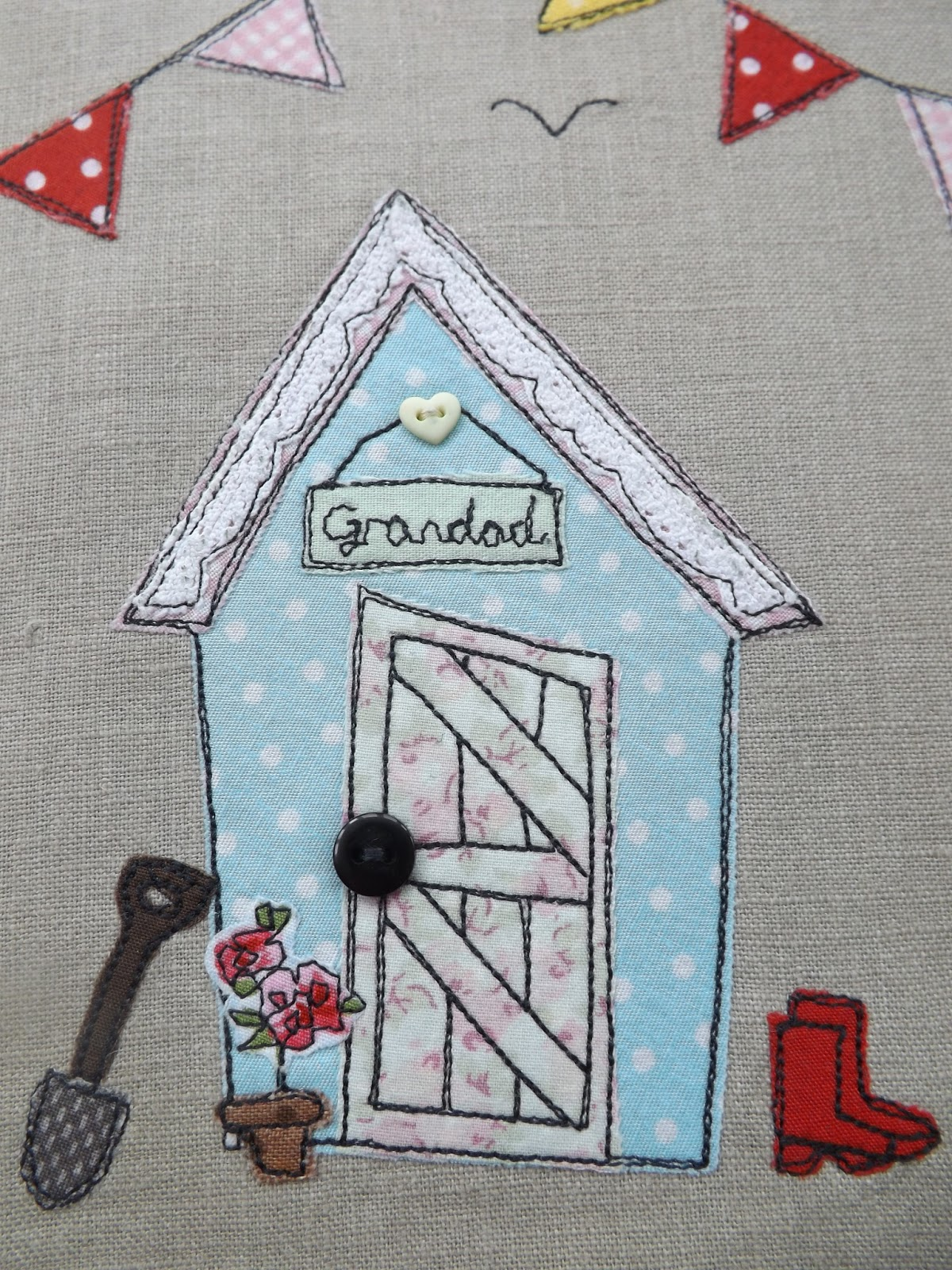 Sewforsoul embroidered gardening journal for Garden shed quilting