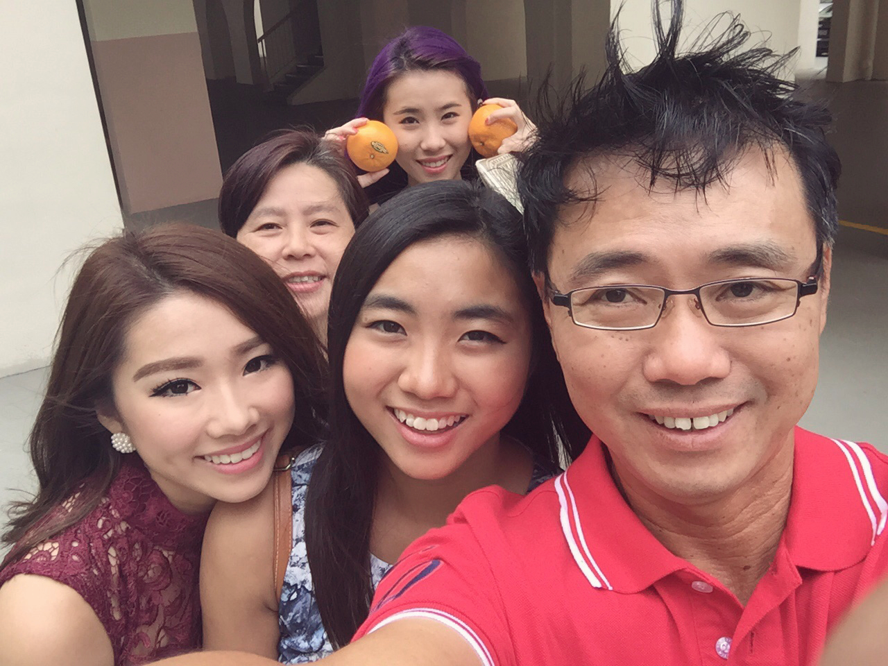 Chinese new year, singapore, family