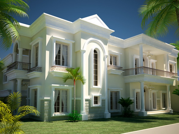 3d max elevation of house joy studio design gallery for Classic house elevation