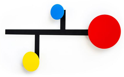 wall-mounted coat rack in bright colors - small