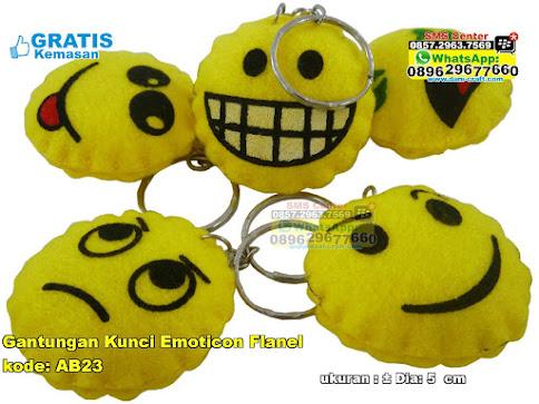 Gantungan Kunci Emoticon Flanel murah