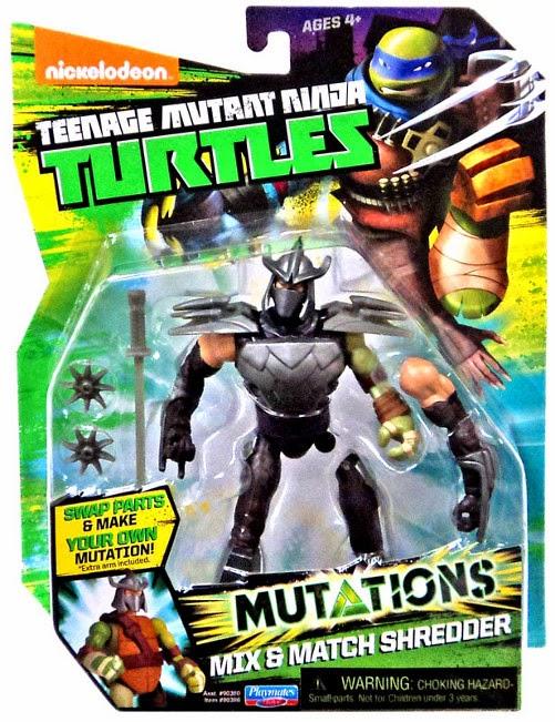 JUGUETES - LAS TORTUGAS NINJA : Mutations   Mix & Match Shredder | Muñeco - Figura  Producto Oficial 2015 | Playmates | A partir de 4 años