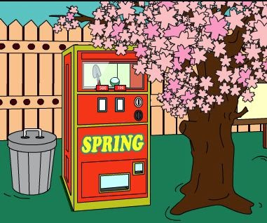 Juegos de escape Vending Machine Under the Cherry Tree Escape