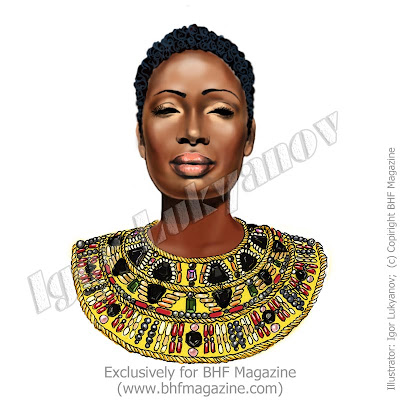 African fashion illustration