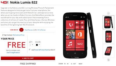 Nokia Lumia 822 Gratis Dari Verizon