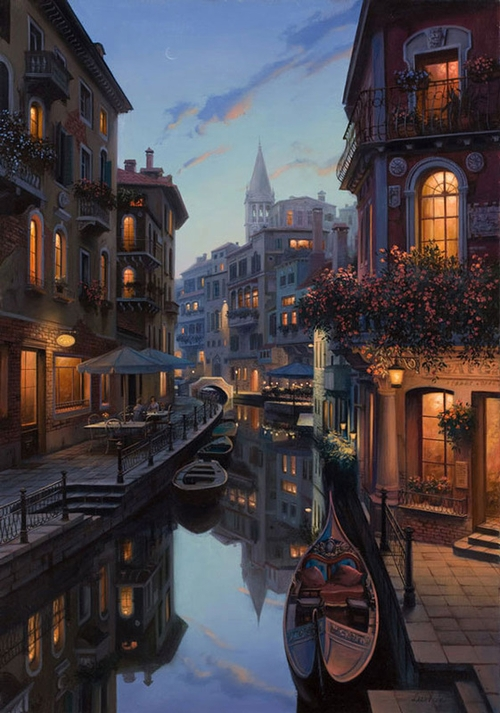 21-Placidity-Evgeny-Lushpin-Scenes-of-Realistic-Night-Time-Paintings-www-designstack-co