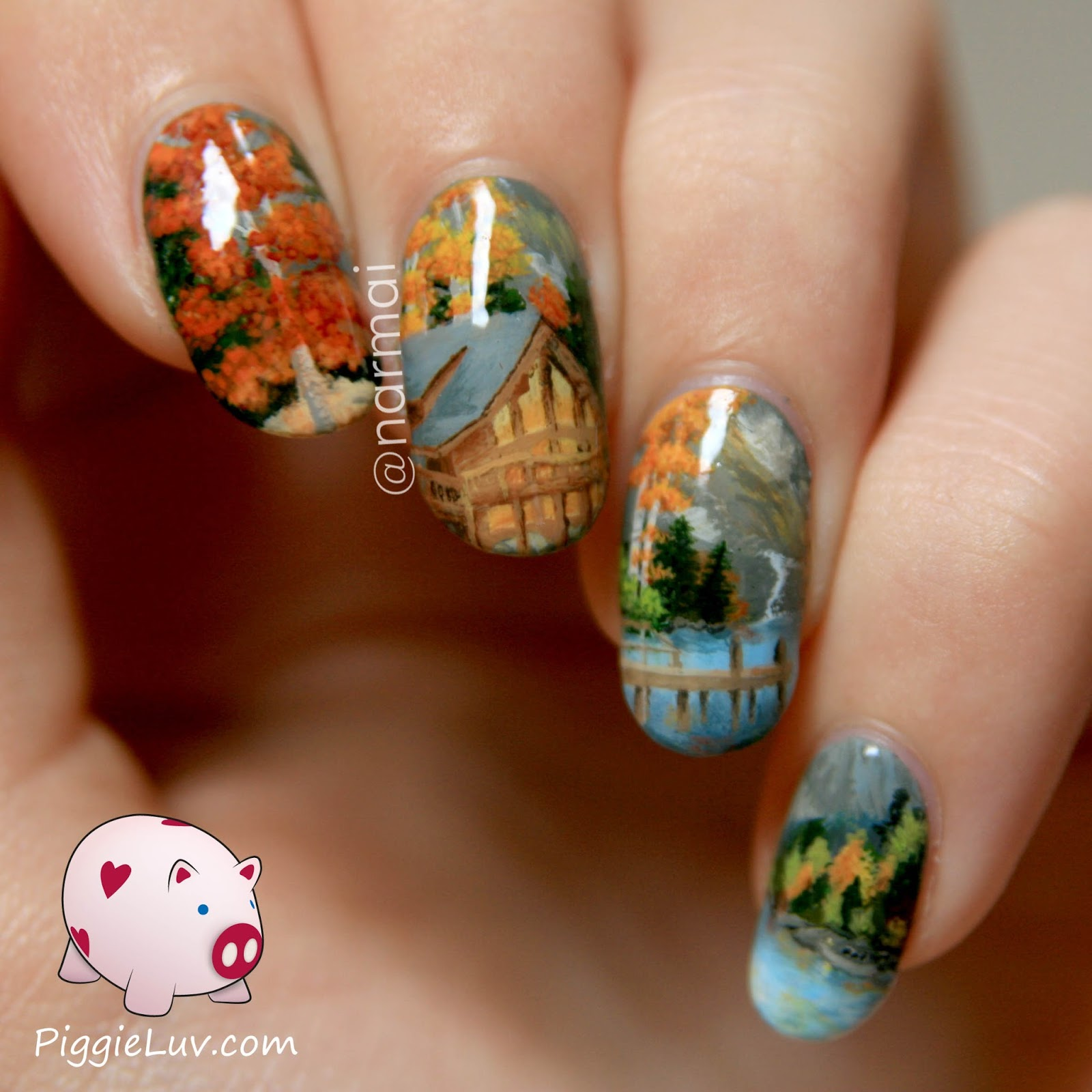 Piggieluv 3d Pull The Curtain Nail Art: ALIQUID: November's Museum-Worthy Manis