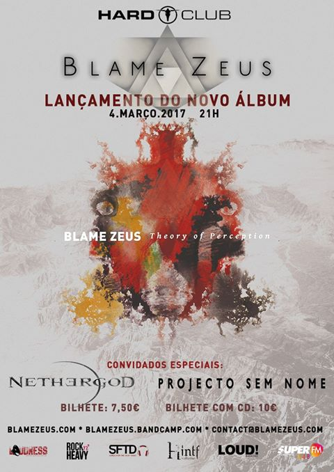 Blame Zeus - Theory of Perception Release Gig