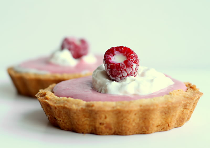 Spiced Raspberry & White Chocolate Truffle Tarts - Sprinkled with ...