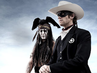 The Lone Ranger Johnny Depp and Armie Hammer HD Wallpaper