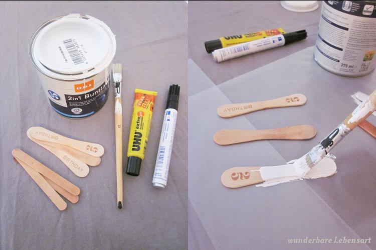 DIY Kräuterschildchen selbst gemachte aus Eisstielen